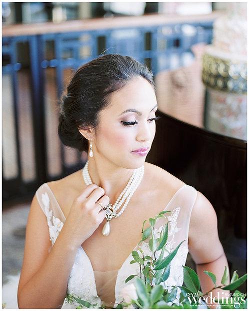 MERIDA Faux Pearl drop Necklace