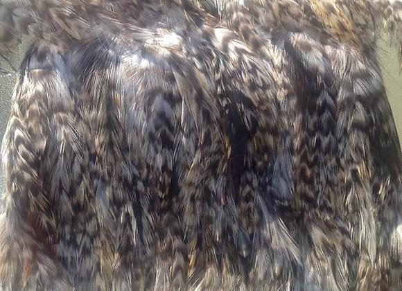 """4-4.5"""" Black & White Feather Trim"""