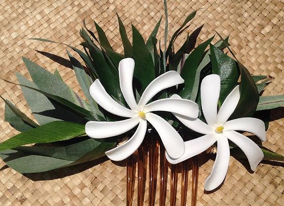 "4"" Polynesian Flower Hair Comb"