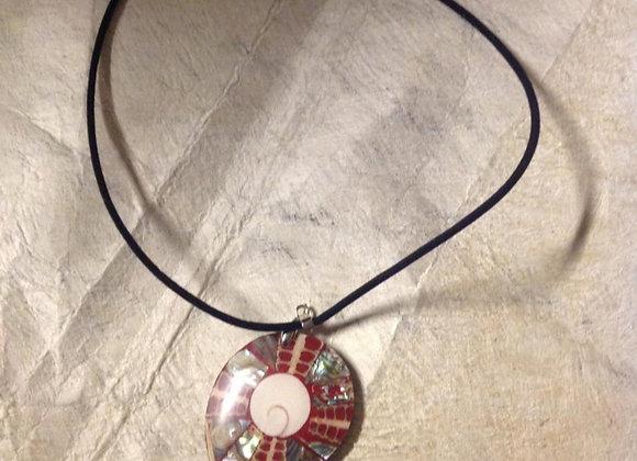 Abalone & Natural Seashell Inlay Necklace