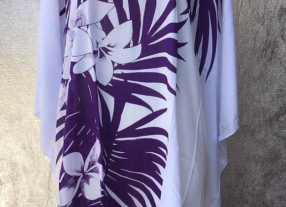 Purple Palm Leaves Poncho/Dress or Top