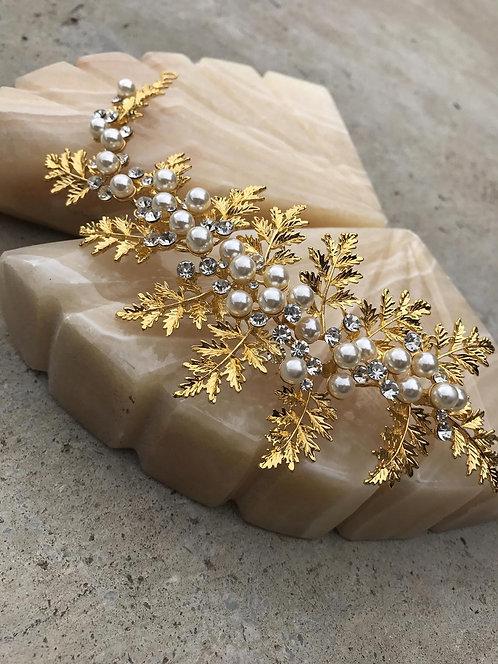 HERA Golden leaf Greek Bridal Hair Piece