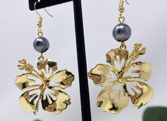 Hawaiian Floating Plumeria Earrings