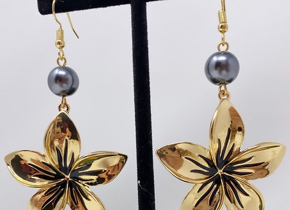Hawaiian Large Plumeria Earrings