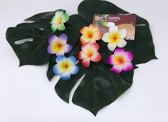 "Small 2"" Hawaiian Plumeria hair clips"