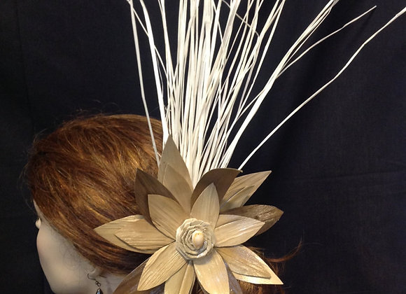 XL Rauara/Lauhala/lo'akau Flower Clip