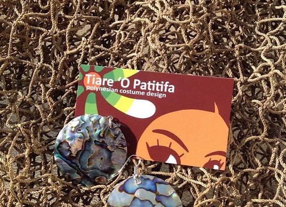 Abalone/Paua Shell Circle Earrings