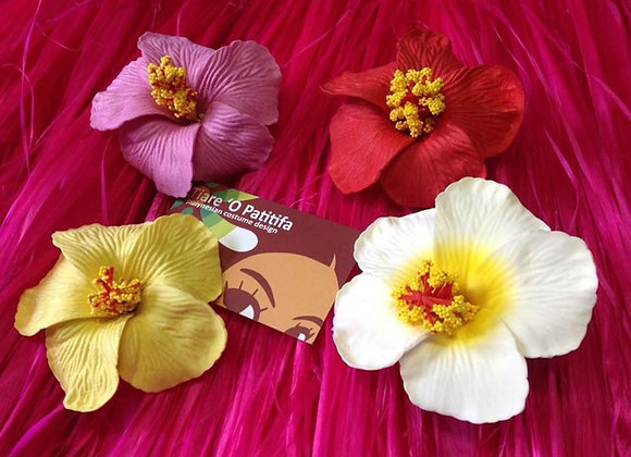 Hawaiian Solid Color Hibiscus Foam Flowers