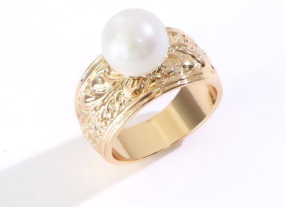 Hawaiian Heirloom Gold Plated Pearl Ring