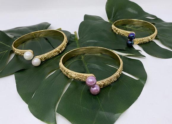 Hawaiian Heirloom Hamilton Gold Pearl Bracelet