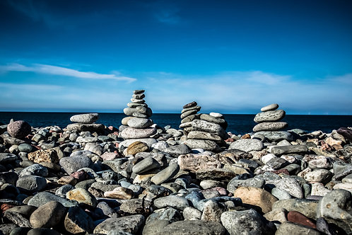 Beach Rock Balances