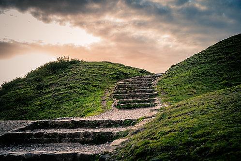 Steps on British Camp Malvern