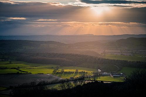 Sunset on the Malvern's