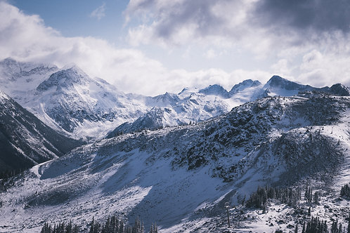 First Snow of the Year Whistler Mountain British Columbia Canada