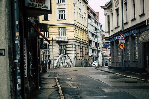 Street view Sarajevo Bosnia