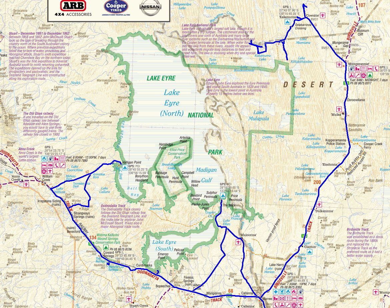 Map Lake Eyre