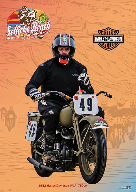 49 - 1942 Harley Davidson WLA 750cc 2017