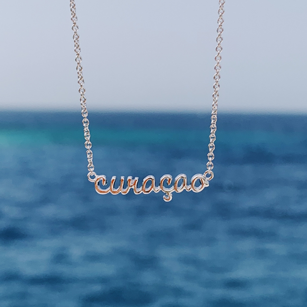 The Curaçao Island Necklace - Silver Plated