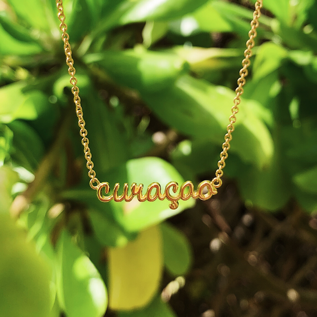 The Curaçao Island Necklace - Gold Plated
