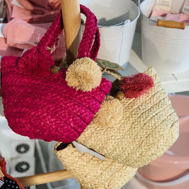 BAGT - Panier Kandy Mini Bag - Pink & Natural