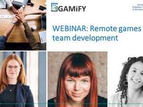 WEBINAR: Remote games for team development