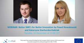 Better SME's for Better Innovation by PaweL Nowakowski and Katarzyna Stachurska-Kadziak