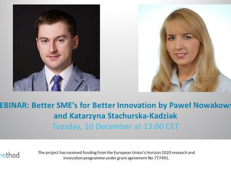 Better SME's for Better Innovation by PaweL Nowakowski and Katarzyna Stachurska-Kadziak