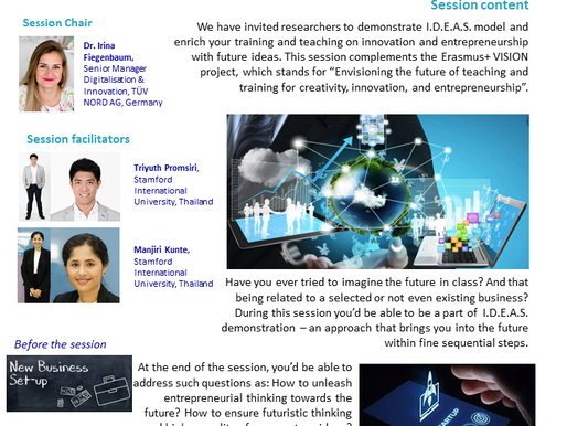 I.D.E.A.S.: Futuristic Thinking, or how to ensure development of new ventures?