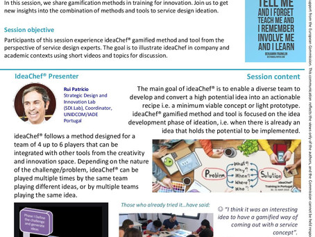 Gamification for service design and Innovation: ideaChef® method and tool
