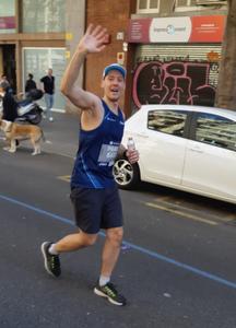 Paavo Ritala running his 14th Marathon.