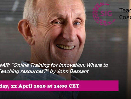 "Webinar ""Online Training for Innovation: Where to Find Teaching resources"" by John Bessant"