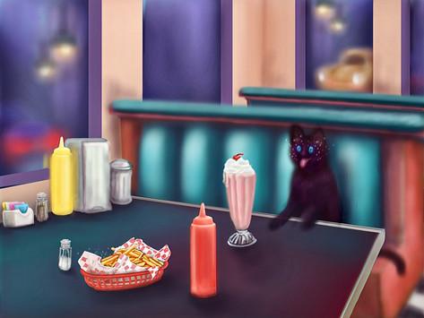 """Quarantined at Dairy Queen: A Catnap Dream"""