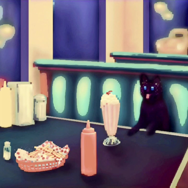 """Quarantined at Dairy Queen: A Catnap Dream"" (GIF)"
