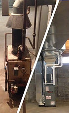 Furnace before an after