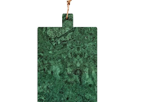 tábua de mármore verde pequena