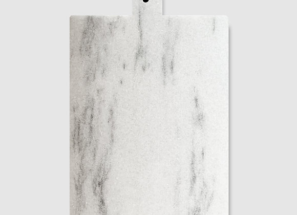 tábua de mármore retangular alça grande