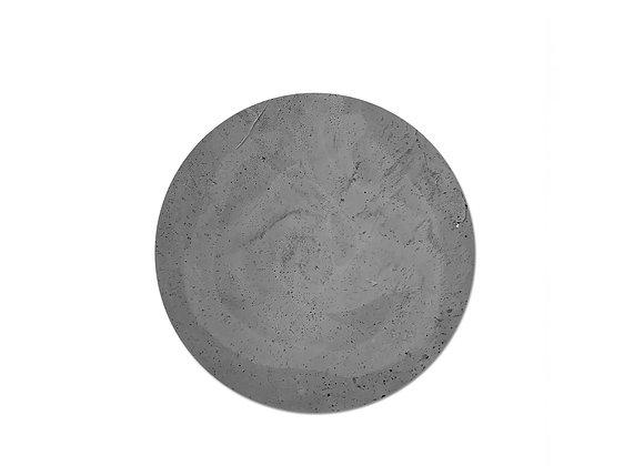bandeja concreto redonda preto