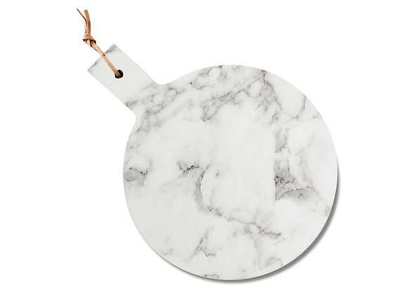 tábua de mármore redonda alça