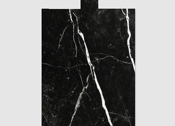 tábua de mármore nero grande
