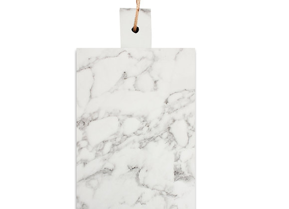 tábua de mármore retangular alça