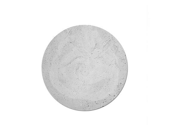 bandeja concreto redonda cinza
