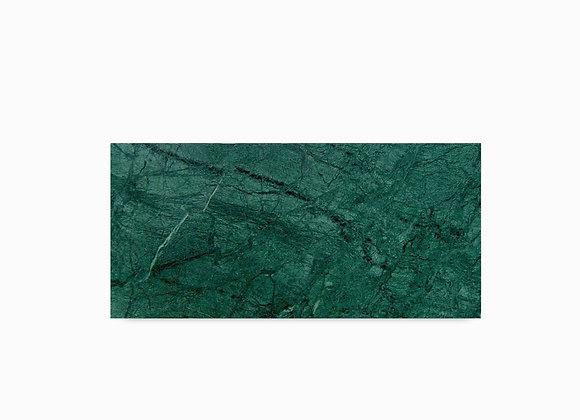 tábua de mármore verde guatemala retangular pequena