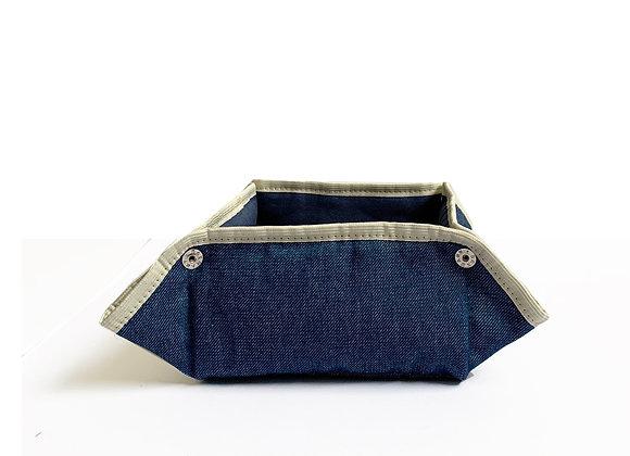 cesto sarja azul