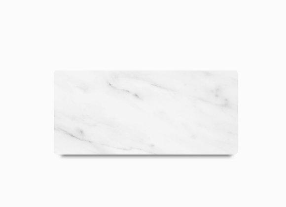 tábua de mármore carrara retangular pequena