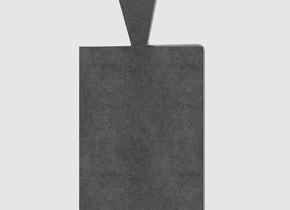 bandeja concreto preto retangular com alça