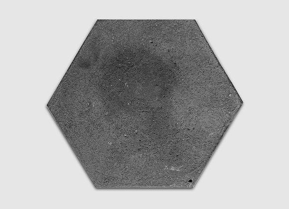 bandeja de concreto preto hexagonal