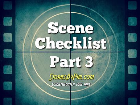 Screenwriting Tips: Scene Checklist Part 3