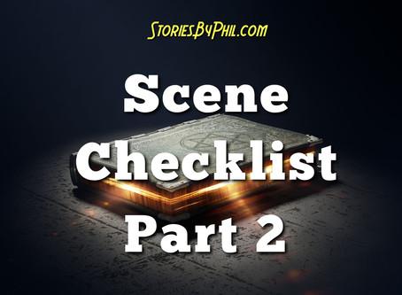 Screenwriting Tips: Scene Checklist Part 2