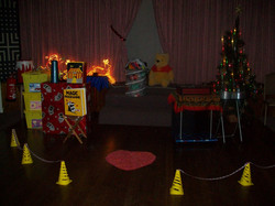 children's show set-up