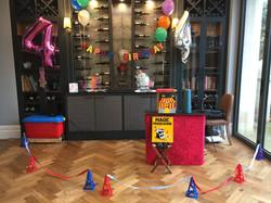 Children's party set-up